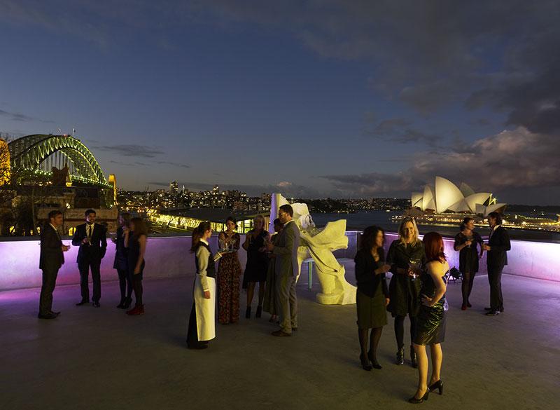 Terraza del Museo de Arte Contemporáneo en Sydney